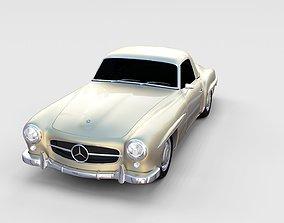 Mercedes 190SL Hard Top rev 3D model