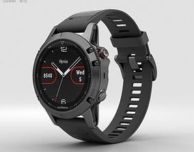 Garmin Fenix 5 Slate Gray with Black Band 3D