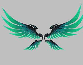 3D asset Green Eagle Wing