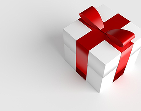 3D model Set of Xmas Themed Gift Boxes