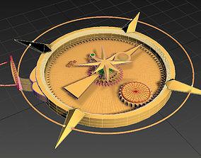3D model Ancient Golden Compass