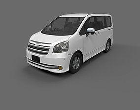 3D asset Low Poly Car - Toyota Noah 2010