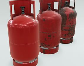 3D asset 4K Low-Poly PBR Propane Gas Cylinder 11 kg - 3 2