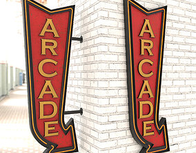 Neon Arcade Vintage Advertising Signs 3D model