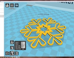 Snowflake 3D print model christma-ball