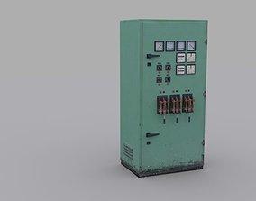Electrical Panel 3D asset VR / AR ready electronics