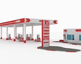 Gas Station lukoil 3D asset game-ready