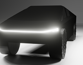 3D My first car Cybertruck I need feedback
