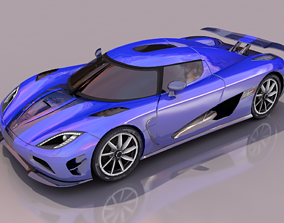 Koenigsegg Agera 3D model game-ready