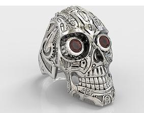 jewelry Skull ring 3D print model