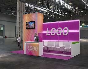 3D Exhibition stand 6x3 exhibition