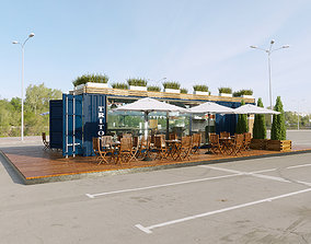 Cafe container 3D