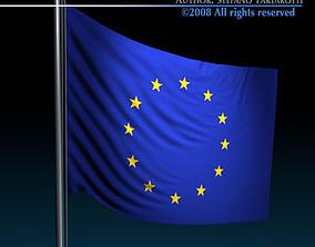 Flag European Union 3D model