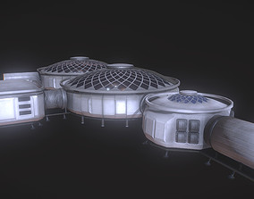 Martian HUB 3D asset