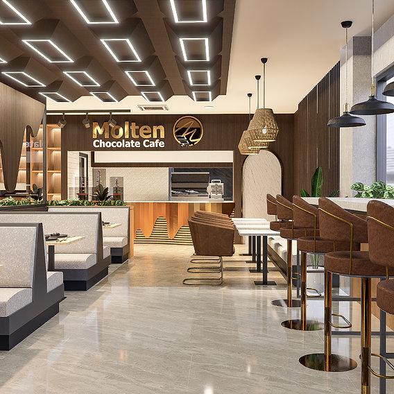 Molten Chocolate Cafe visualization