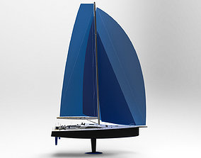 Sailing Yacht 50 ft 3D