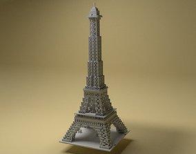 Eiffel Tower Voxel 3D printable model