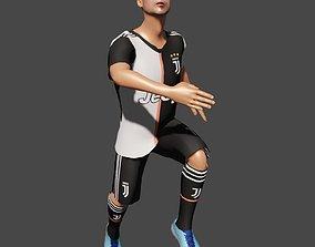 3D rigged Cristiano Ronaldo