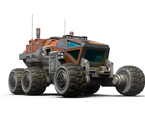 3D Mars Rover game-ready