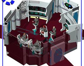3D model Starship Bridge 11 for Poser