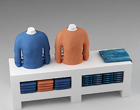 3D Clothes stand display store 01