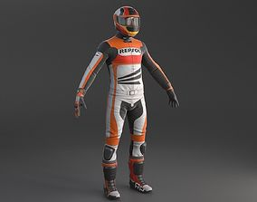 3D Biker Racing Motorcycle Rider