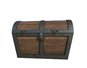 Game Ready Treasure Chest 3D asset