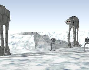 3D Star Wars - Hoth imperial troop