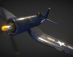 3D model game-ready Vought F4U Corsair