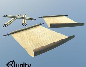 Medieval Scrolls 3D model