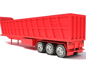 3D model lorry Tipper Trailer