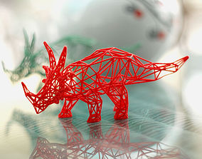 3D printable model Styracosaurus Wireframe