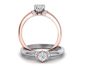 Paradise design Classic Solitaire ring with 4mm stone