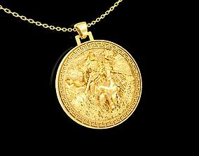 3D printable model Warrior Crusade pendant jewelry gold 1