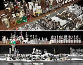 Biggest Alcohol Bar Set 3D model