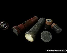3D asset Old Flashlight - PBR Game Ready