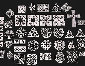 celt Celtic ornament pack full 3D model