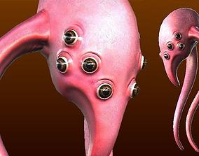 Alien Squid Creature 3D asset