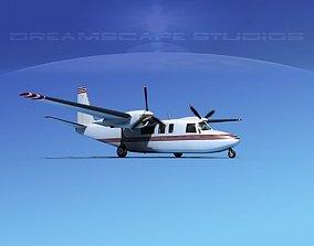 3D model Rockwell Turbo Commander 690 V16