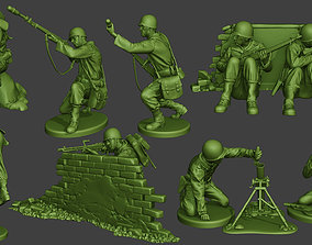 3D print model American soldiers ww2 Pack A10