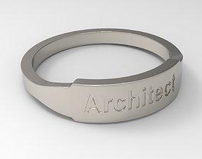Architect Female Ring 3D printable model