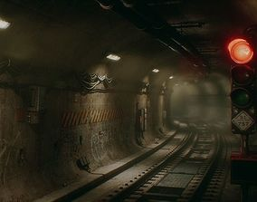 Subway Tunnel - Unreal Project UE4 - PBR 3D asset 1