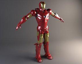 3D Iron Man Rigged animated