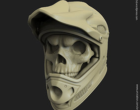 3D printable model Biker helmet skull vol5 pendant