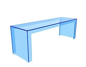 Kartell Invisible Side Table 3D asset
