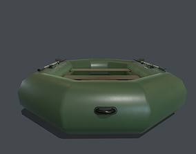 3D asset Inflatable boat PBR