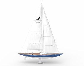 3D Leonardo yacht Eagle 44 BLUE