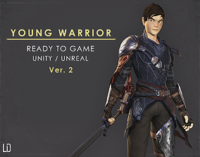 Young Warrior - Ver 2 - Ready to Game - Low Poly 3D model