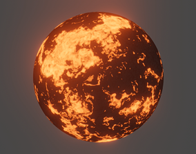 3D model Lava Shaders