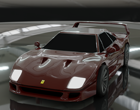 3D asset Ferrari f40 1987 alternative design
